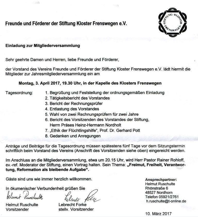 einladung zur mitgliederversammlung | herzlich willkommen bei den, Einladung